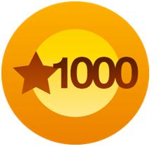 1000 likes Buttton