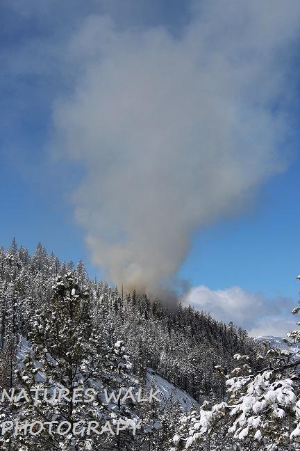 Fire in The Sierra Mountains